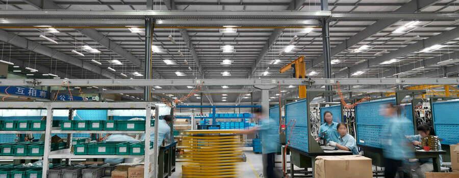 iluminação ideal para indústria